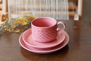 クイストゴー Cordial Palet(コーディアル パレット)ピンク 三点トリオ�(カップ&ソーサー&ケーキプレート)