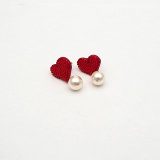 Heart Pearl ピアス|イヤリング -3colors-