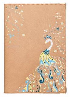 2019年マンダラ手帳ドリームガールズプロジェクト B6デスクサイズ フェニックス(キャメル)