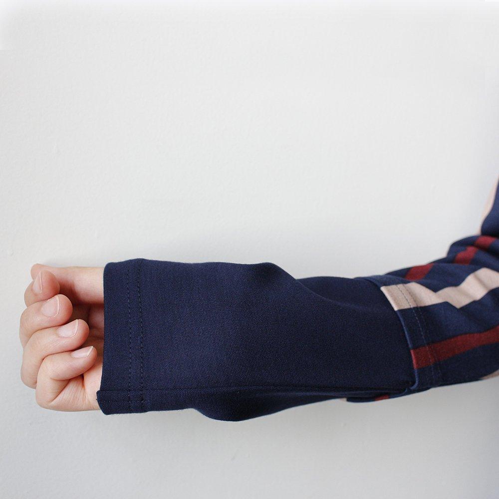 袖の切り替えイメージ