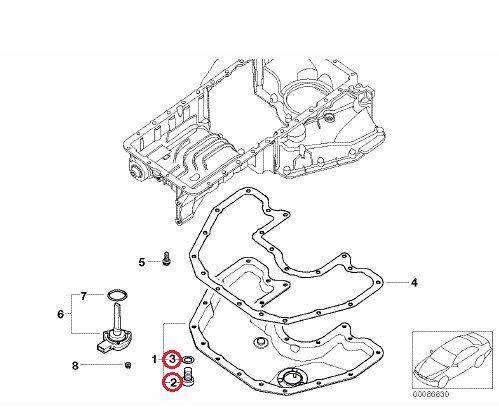 BMW エンジンオイルドレインボルト ワッシャー セット ドレンボルトセット 07119905428