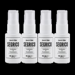 SEGRICO(セグリコ) 除菌 消臭 ミニ フィンガー スプレー4本セット (30ml・100ppm) 超高純度 次亜塩素酸 ナトリウム 単一製剤