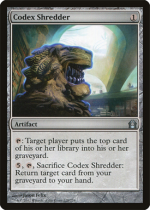 写本裁断機/Codex Shredder(RTR)【英語】