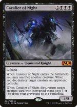 夜の騎兵/Cavalier of Night(M20)【英語FOIL】