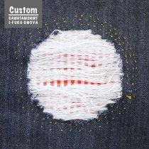 《Custom》ダメージ加工+裏当て布+刺し子