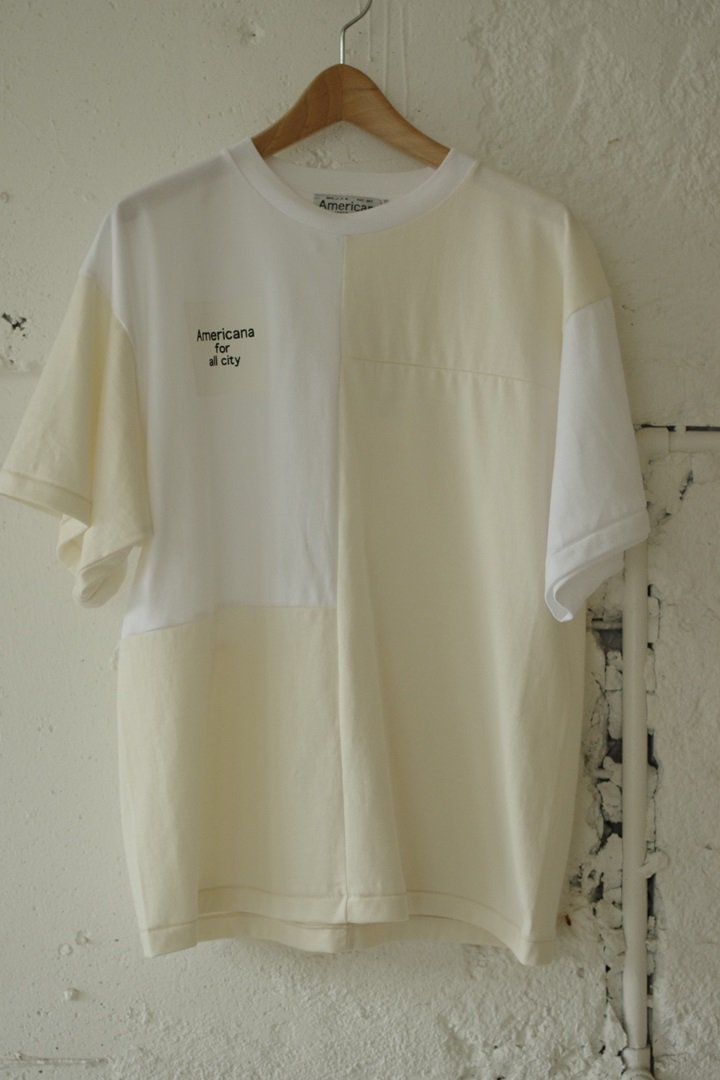 AMERICANA BRF-343A パッチワークT [WHT/NATURAL]