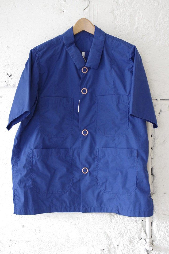 FIRMUM S8-FR222S5 60/-ポリエステルコットン タイプライターS/Sシャツ [COBALT BLUE]