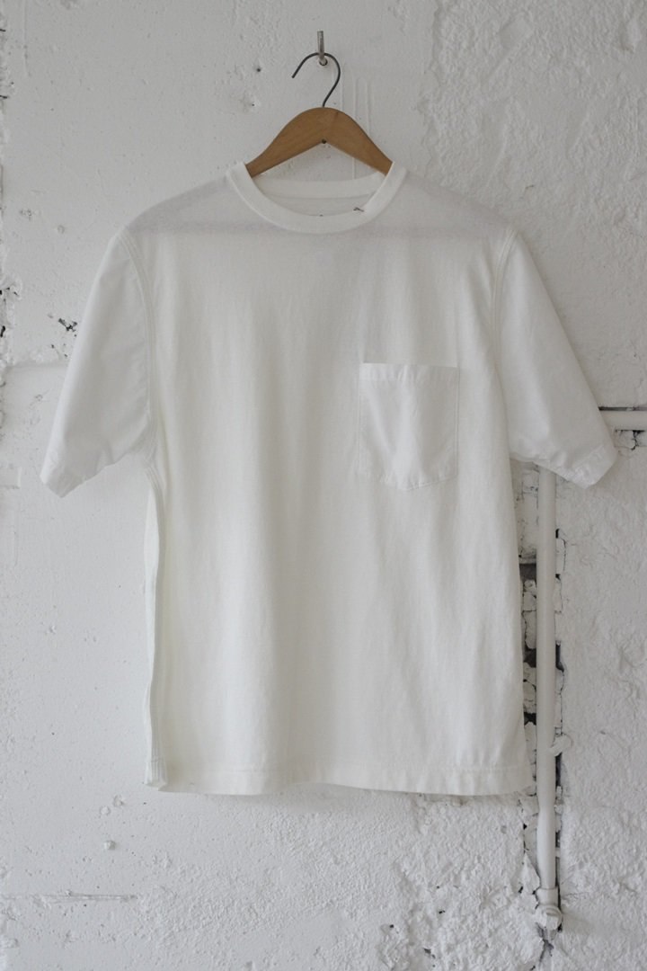 CORONA CC009 TRIPLE STITCH POPLIN SLEEVE POCKET TEE SHIRT[WHITE]