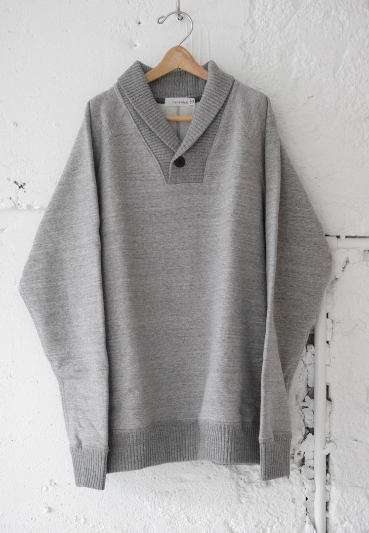 NANAMICA SUHF840 SHAWL COLLAR SWEAT [MIX GREY]