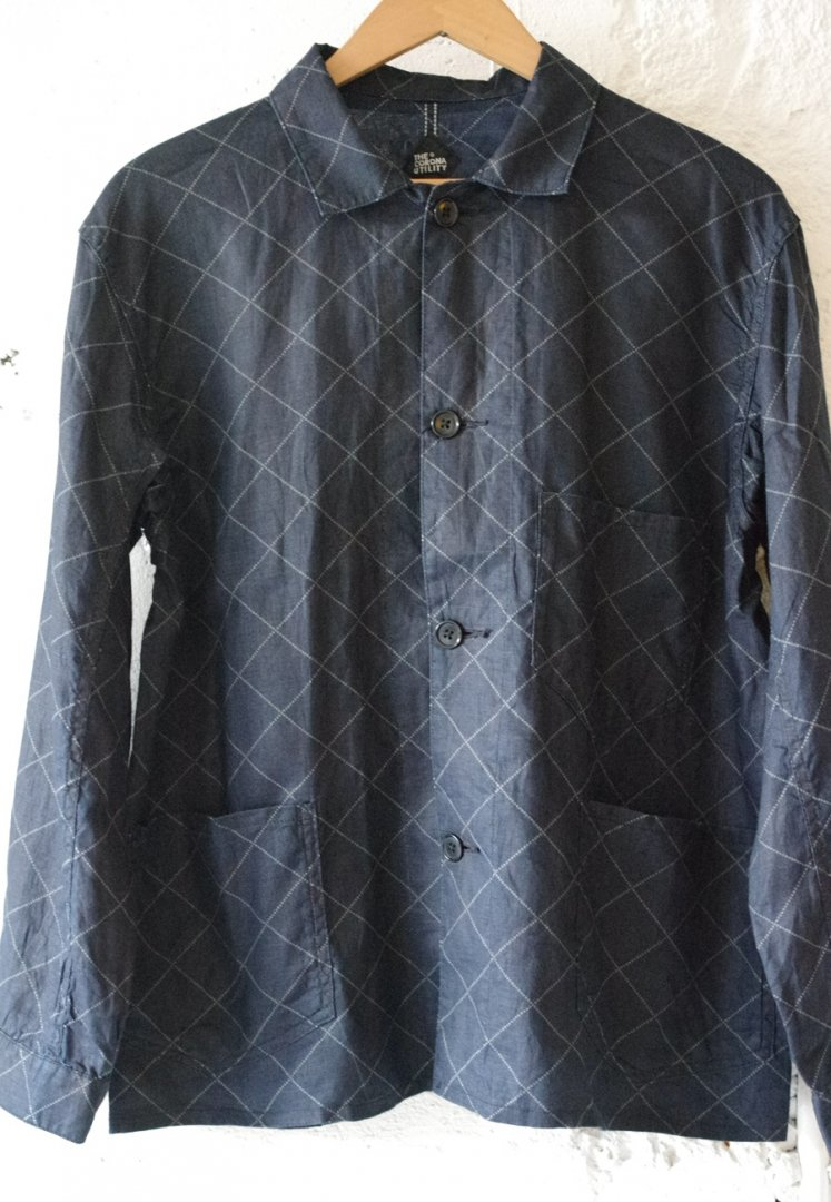 CORONA CS095 19-02 PATERSON JAC SHIRT [LINEN DIAMOND WABASH/BLACK INDIGO]