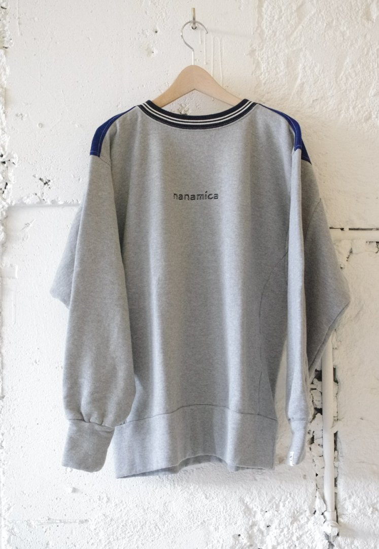 NANAMICA SUHS976 nanamican crew neck sweat [HEATHER GREYxBLUE]