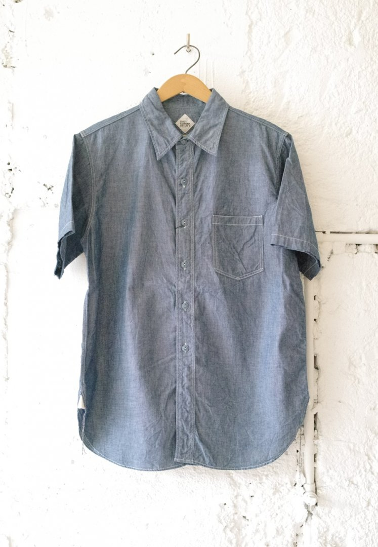 CORONA CS001S NAVY 1 POCKET SHIRT・SHORT SLEEVE 19-01[BLUE]