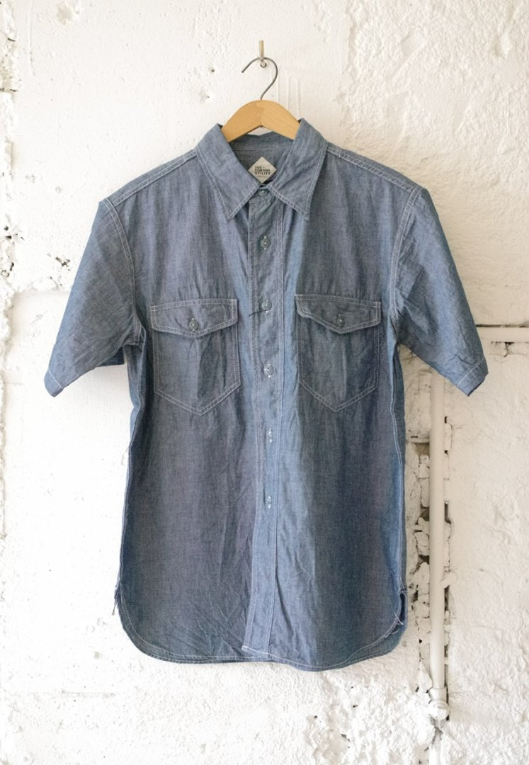 CORONA CS002S NAVY 2 POCKET SHIRT・SHORT SLEEVE 19-01[BLUE]