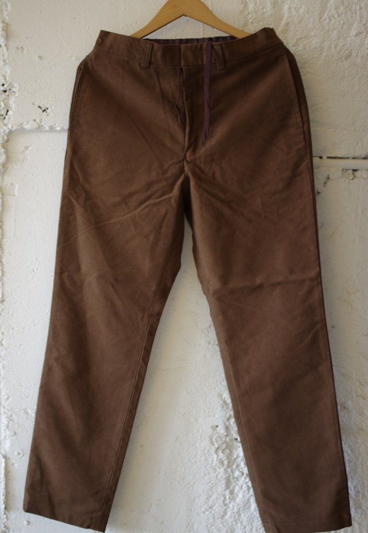 A VONTADE VTD-0395-PT COTTON SUEDE EASY TROUSERS [CIGER BROWN]