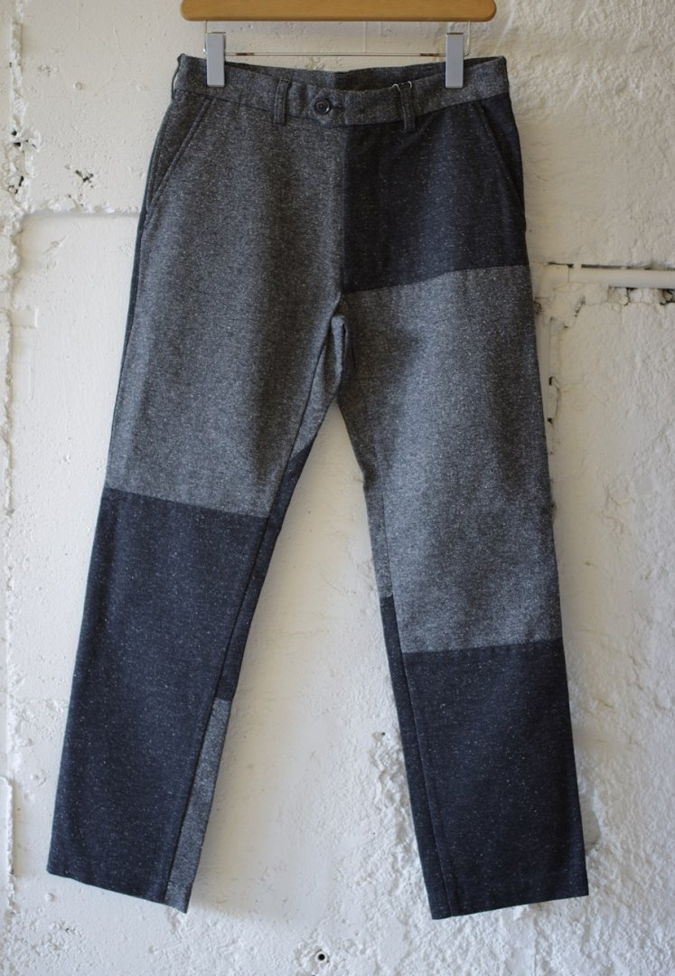 NANAMICA SUCF970 PANEL CLUB PANTS [HEATHER GREY]