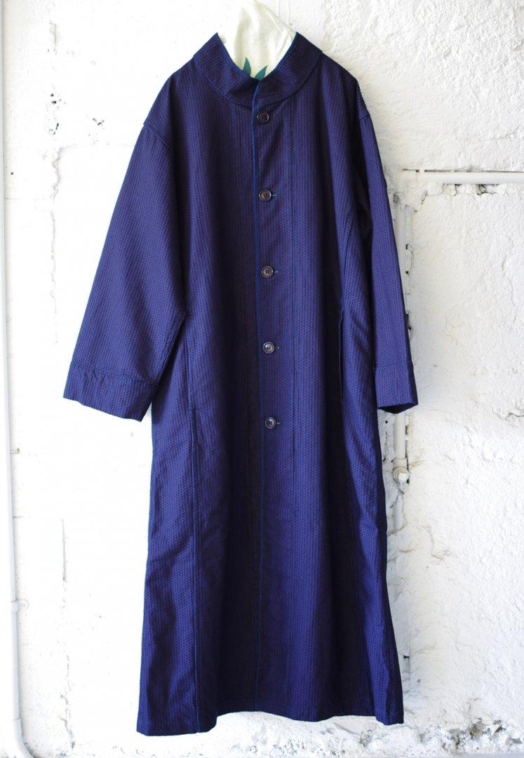 BLUE BLUE JAPAN 700077174 ステッチサシコ スタンドカラー スプレッドコート ウイメンズ[INDIGO]