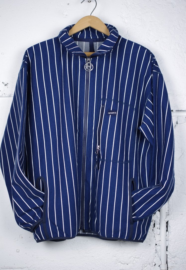 NANAMICA SUAS041 NANAMICAN VERTICAL STRIPE JACKET[NAVY]