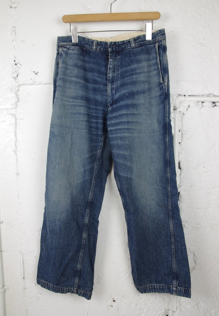 WAREHOUSE 1209 USN DENIM TROUSERS(zipper fry) [U/W]