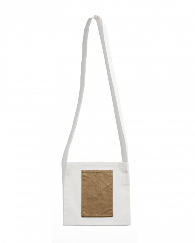 THE GYF LOGO SQUARE TOTE BAG GOLD