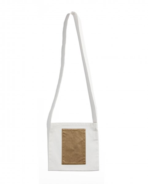 GYF TOKYO - THE GYF LOGO SQUARE TOTE BAG GOLD