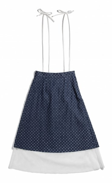 GYF TOKYO - THE DENIM LONG SKIRT WITH SUSPENDERS