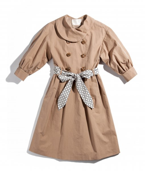 GYF TOKYO - THE TRENCH DRESS WITH SCARF BELT (BEIGE)