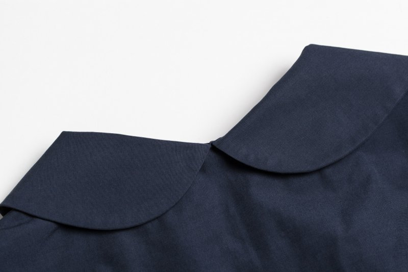 THE TRENCH DRESS WITH SCARF BELT (NAVY)