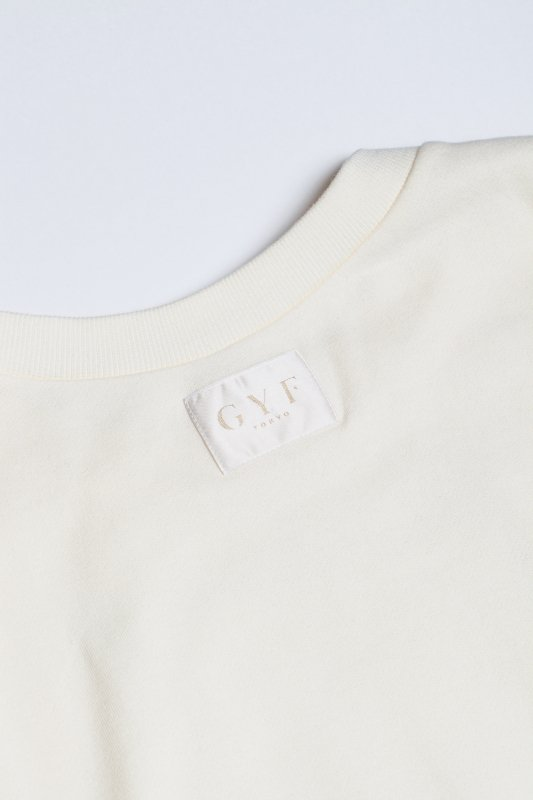 THE GYF LOGO SUPER LONG SLEEVE SWEAT SHIRT (WHITE)