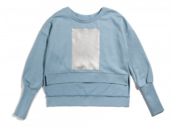 GYF TOKYO - THE GYF LOGO SUPER LONG SLEEVE SWEAT SHIRT (SKY BLUE)