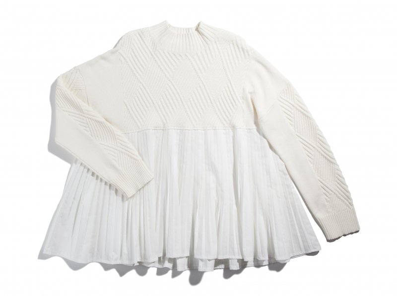 THE PLEATS DOCKING KNIT (WHITE)