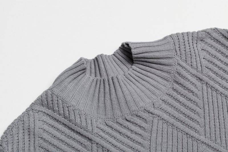 THE PLEATS DOCKING KNIT (GRAY)