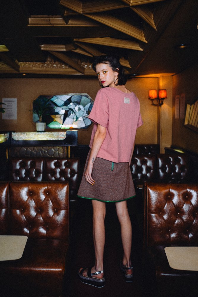 THE SUMMER TWEED MINI SKIRT