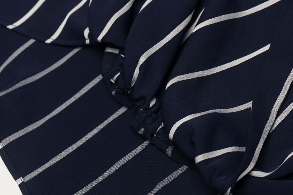 THE STRIPE RELAX SHIRT (NAVY)
