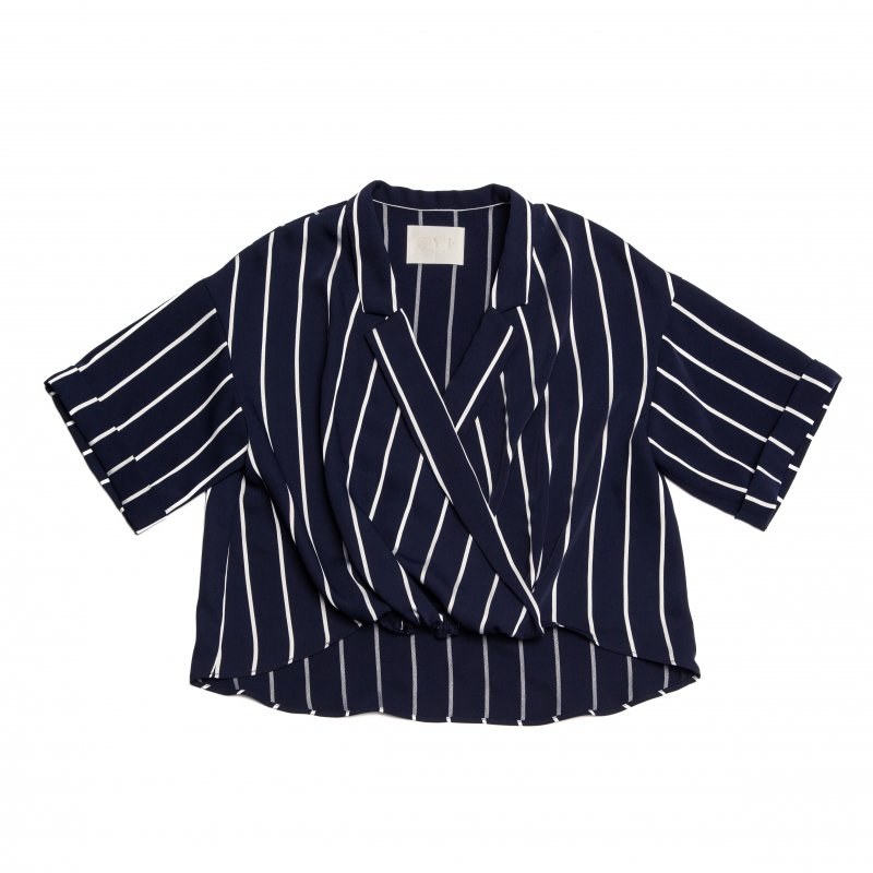 GYF TOKYO - THE STRIPE RELAX SHIRT (NAVY)<img class='new_mark_img2' src='https://img.shop-pro.jp/img/new/icons21.gif' style='border:none;display:inline;margin:0px;padding:0px;width:auto;' />