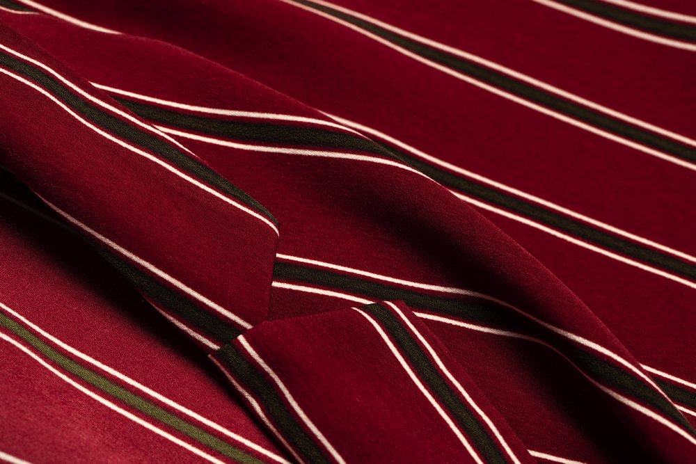 THE STRIPE RELAX SHIRT (WINE RED)