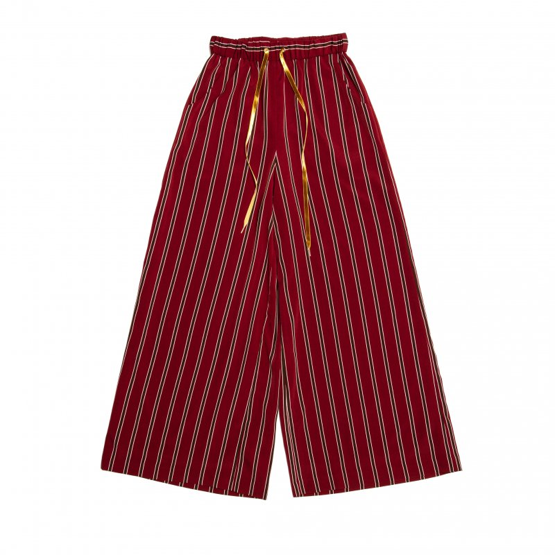 GYF TOKYO - THE STRIPE EASY WIDE PANTS (WINE RED)<img class='new_mark_img2' src='https://img.shop-pro.jp/img/new/icons21.gif' style='border:none;display:inline;margin:0px;padding:0px;width:auto;' />