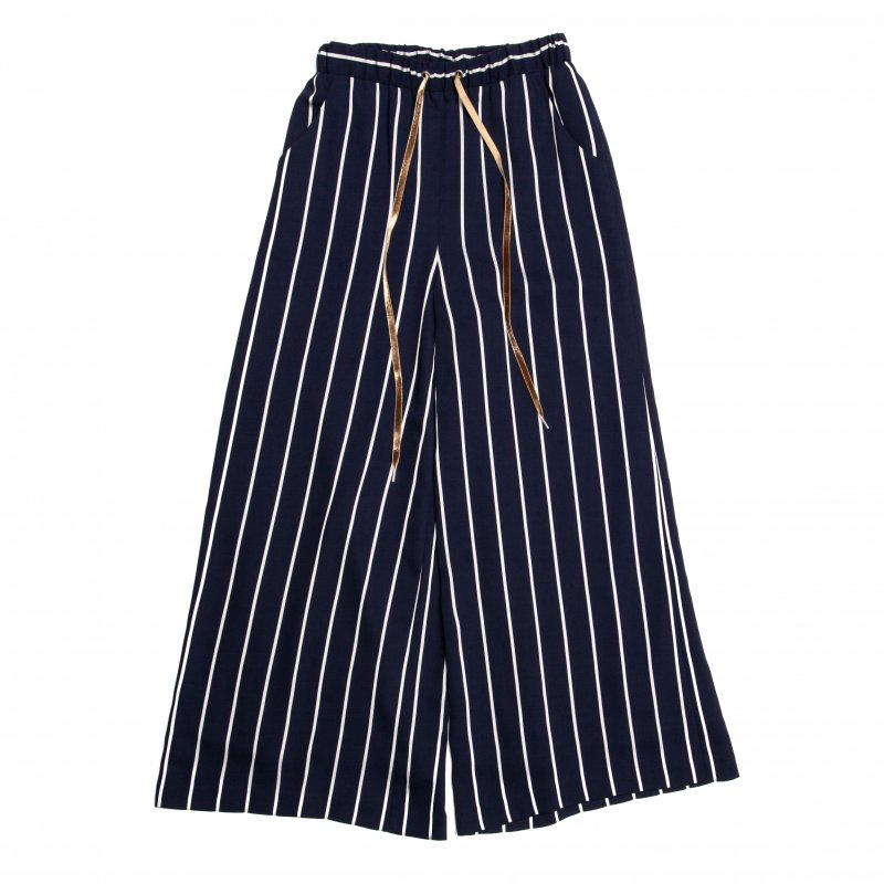 GYF TOKYO - THE STRIPE EASY WIDE PANTS (NAVY)<img class='new_mark_img2' src='https://img.shop-pro.jp/img/new/icons21.gif' style='border:none;display:inline;margin:0px;padding:0px;width:auto;' />