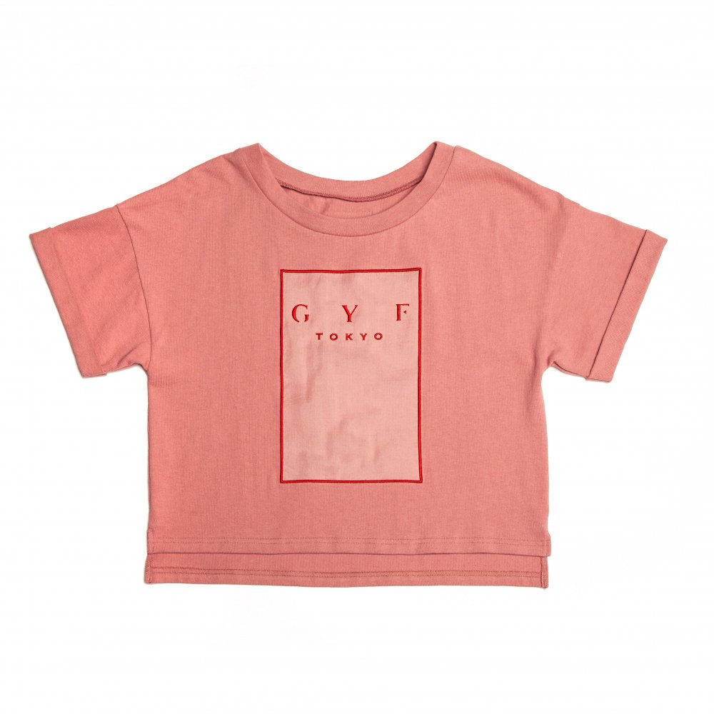 THE GYF LOGO EMBROIDERY T-SHIRT (PINK RED)