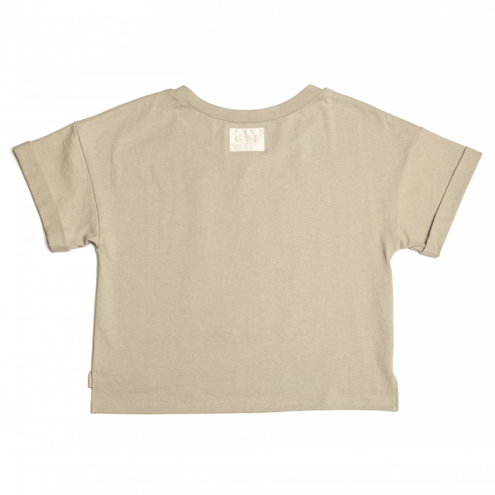 THE GYF LOGO EMBROIDERY T-SHIRT (BEIGE GOLD)
