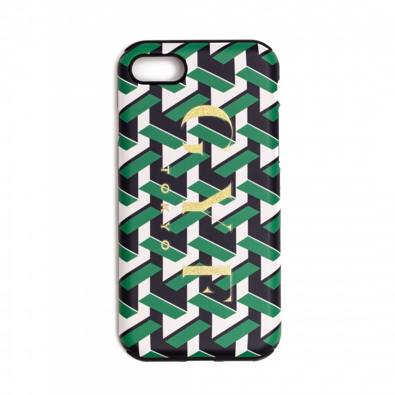 GYF TOKYO - THE GOLDEN GYF LOGO GEOMETRIC PATTERN IPHONE CASE