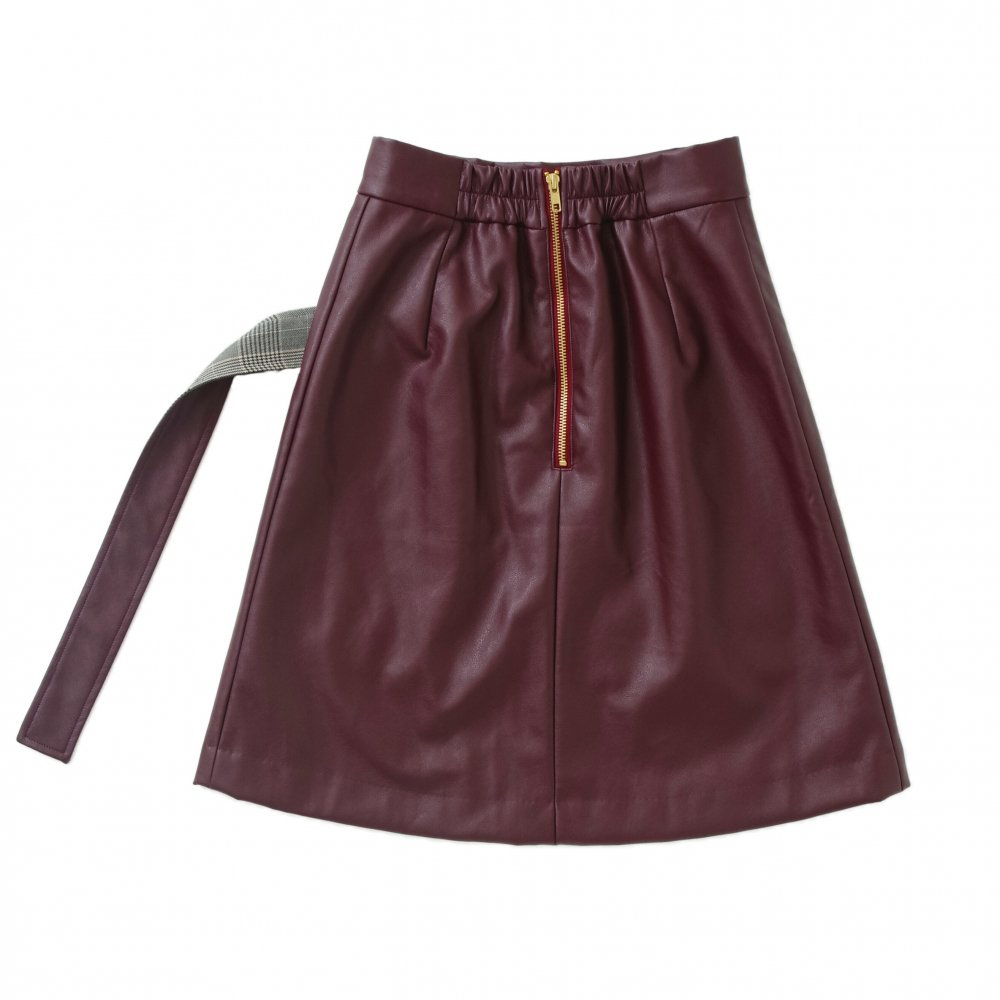 THE LEATHER WRAP SKIRT