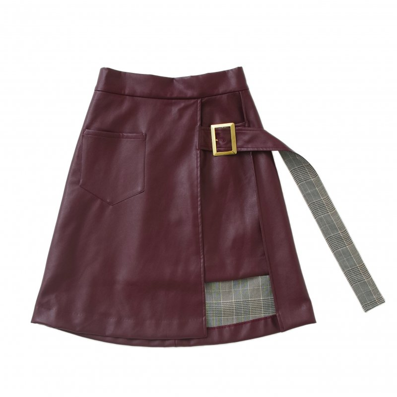 GYF TOKYO - THE LEATHER WRAP SKIRT