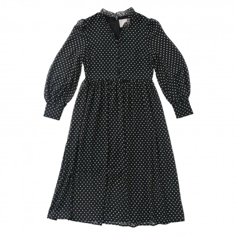 GYF TOKYO - THE DOTTED PATTERN VOLUME SLEEVE DRESS<img class='new_mark_img2' src='https://img.shop-pro.jp/img/new/icons21.gif' style='border:none;display:inline;margin:0px;padding:0px;width:auto;' />