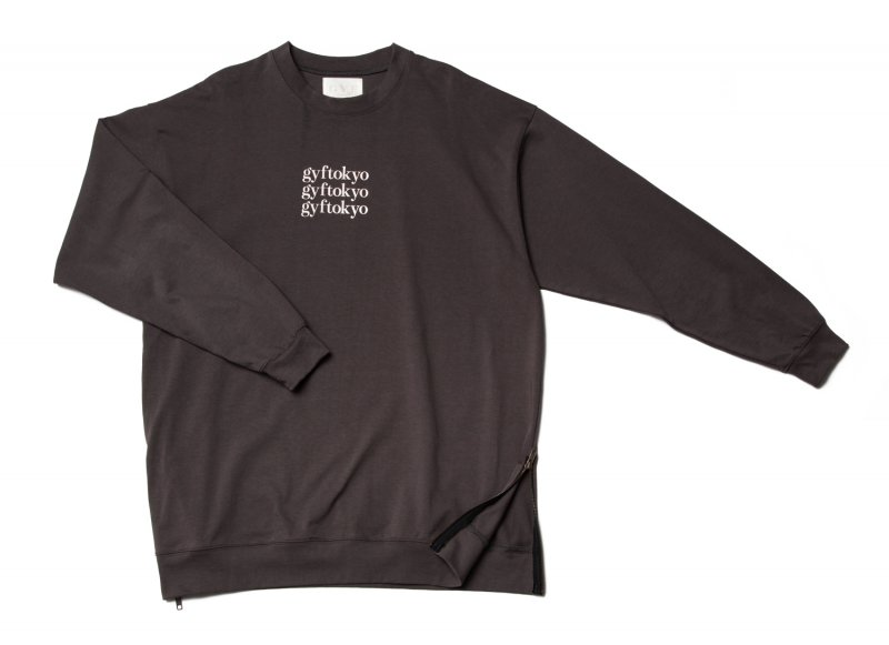 GYF TOKYO - THE OVER SIZED GYF LOGO LONG SLEEVE T-SHIRT (GRAY PINK)