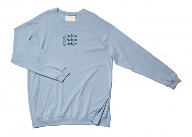 GYF TOKYO - THE OVER SIZED GYF LOGO LONG SLEEVE T-SHIRT (BLUE NAVY)