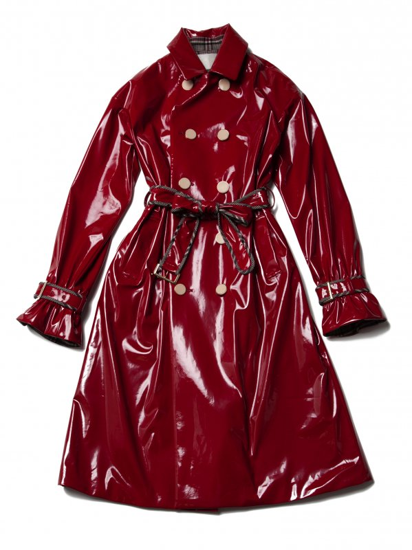 GYF TOKYO - THE BORDEAUX RED VINYL LONG COAT