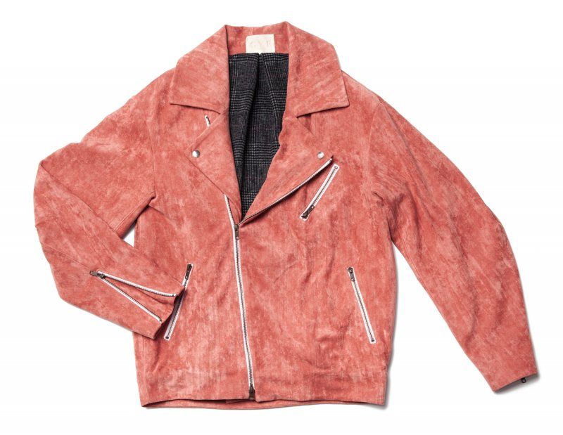 GYF TOKYO - THE BIG FAKE SUEDE LEATHER JACKET (SMOKEY PINK)