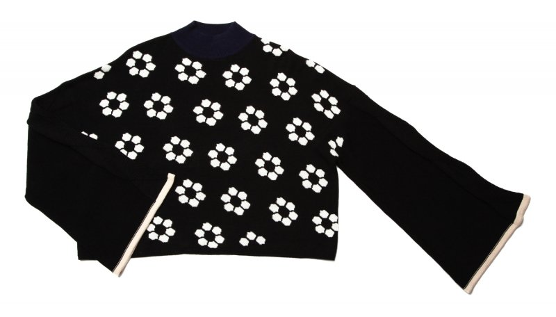 GYF TOKYO - THE RETRO TILE MOTIF BIG SILHOUETTE KNIT (BLACK)