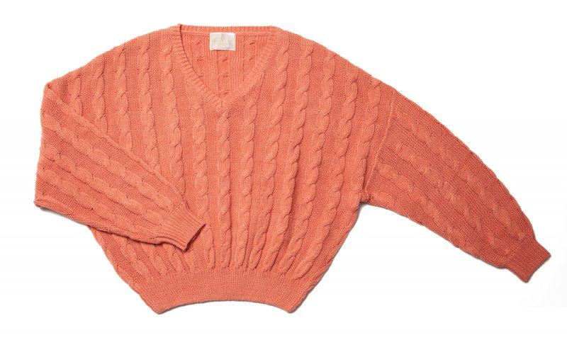 GYF TOKYO - THE DOLMAN SLEEVE CABLE KNIT (SALMON PINK)