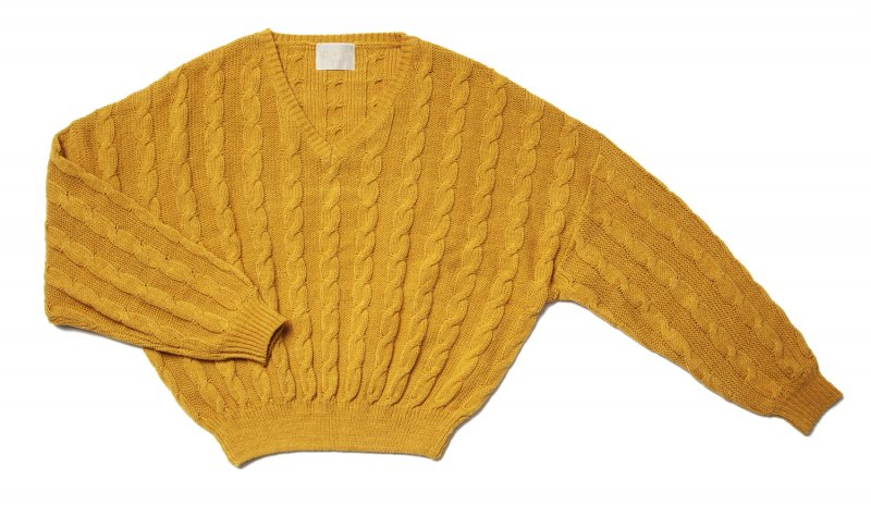 GYF TOKYO - THE DOLMAN SLEEVE CABLE KNIT (MUSTARD YELLOW)